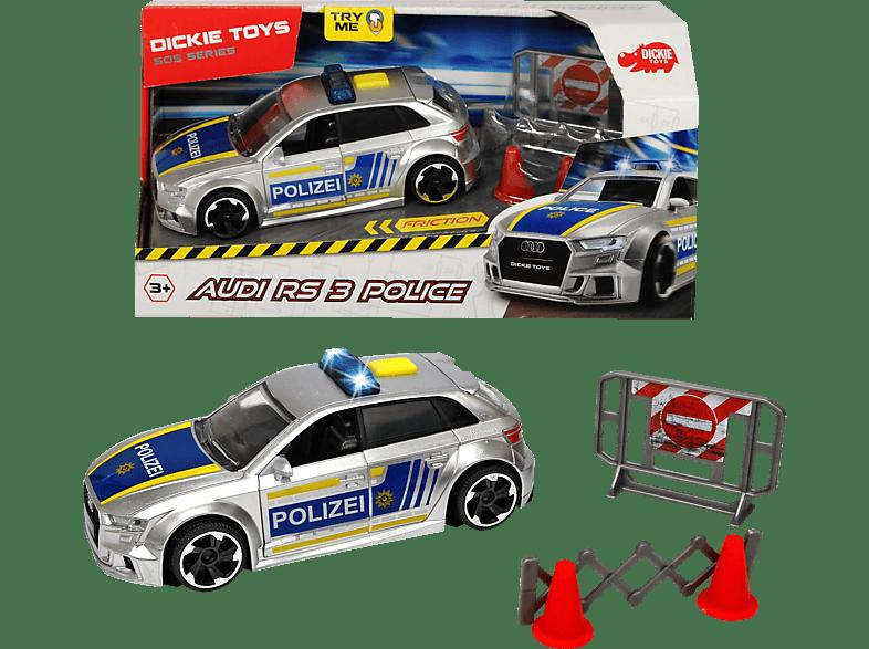 DICKIE TOYS Audi RS3 Polizei Spielzeugauto, Silber