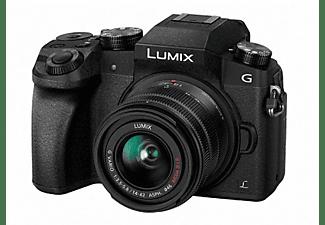 Cámara EVIL - Panasonic Lumix DMC-G7 KEC-K, 16 Mp, 4K + Lumix 14-42MM F3.5-5.6 I.O.S