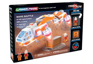LASER PEGS Mars Shuttle - Kit de construction (Multicouleur)