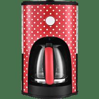 TEAM-KALORIK CM 1045 Kaffeemaschine Rot/Weiß gepunktet