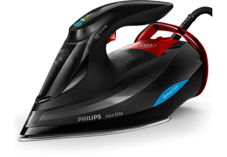 PHILIPS Azur Elite Dampfbügeleisen GC5037/80 mit OptimalTEMP-Technologie, schwarz-rot