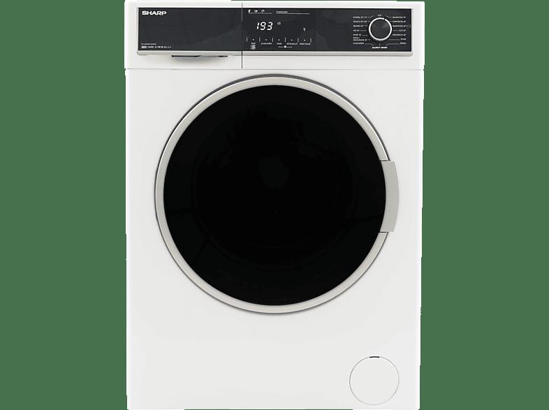 SHARP ES-HFH814AW3-DE  Waschmaschine (8 kg, 1330 U/Min., A+++)