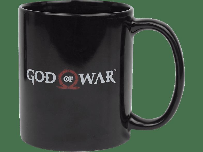 GAYA ENTERTAINMENT God of Mug Logo Tasse, Schwarz