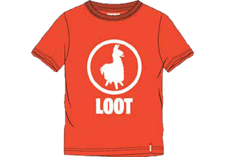 MUSTERBRAND Kids Loot Lama 152 T-Shirt, Orange