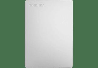 TOSHIBA Canvio Slim (2018), 1 TB HDD, 2,5 Zoll, extern, Silber