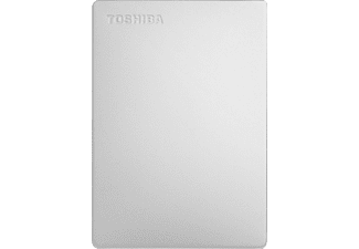 TOSHIBA Canvio Slim (2018) Festplatte, 2 TB HDD, 2,5 Zoll, extern, Silber
