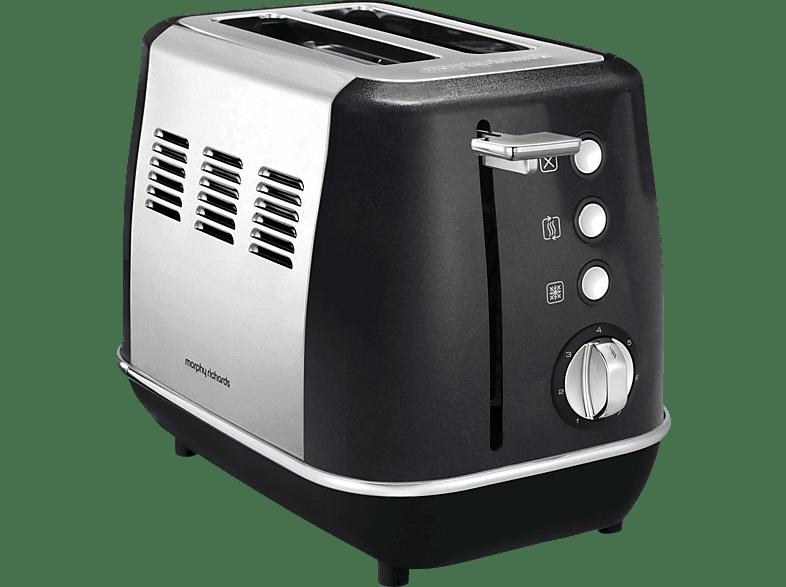 MORPHY RICHARDS 224405 EE Evoke Toaster Schwarz (900 Watt, Schlitze: 2)