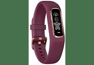 Pulsera de actividad - Garmin Vivosmart 4, Pantalla OLED, Bluetooth, Frecuencia cardíaca, Talla S/M