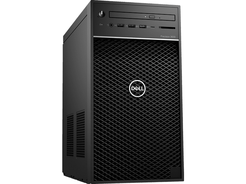 DELL Precision 3630, Desktop PC, Core™ i7 Prozessor, 32 GB RAM, 1 TB HDD, 512 GB SSD, Intel® UHD-Grafik 630, Schwarz