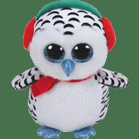 TY Nester,Schneeeule 24cm Plüschfigur, Mehrfarbig