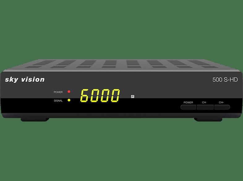 SKY VISION 500 S-HD HDTV-Satreceiver (HDTV, optional, DVB-S2, Schwarz)