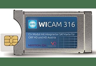 WISI CI+ Modul WICAM 316 mit integrierter SAT-Karte für ORF HD und HD Austria