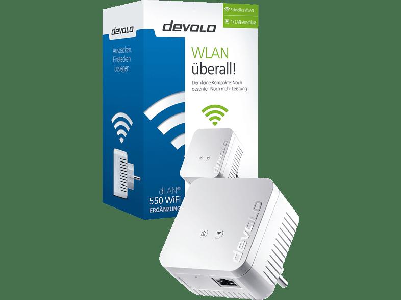 Powerline Adapter DEVOLO 9622 dLAN® 550 WiFi 500 Mbit/s Kabellos und Kabelgebunden