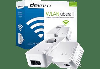 DEVOLO 9623 dLAN® 550 Starter Kit  Powerline Adapter 500 Mbit/s Kabellos und Kabelgebunden