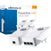 Powerline Adapter DEVOLO 9907 dLAN® 1200 Triple+ Starter Kit 1200 Mbit/s kabelgebunden