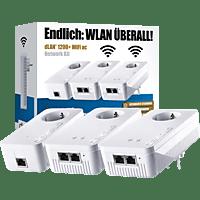 DEVOLO DLAN 1200+ WiFi AC Network Kit Powerline Adapter 1200 Mbit/s Kabellos und Kabelgebunden