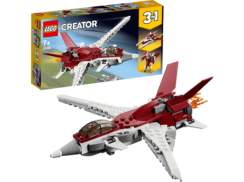 LEGO Flugzeug der Zukunft Bausatz, Mehrfarbig