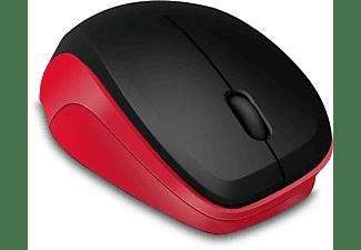 SPEEDLINK LEDGY Mouse - Wireless, Silent, black-red Funkmaus, Rot/Schwarz