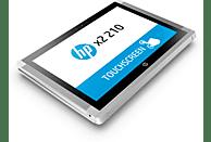 HP x2 210 G2, Convertible mit 10.1 Zoll Display, Atom™ Prozessor, 4 GB RAM, 64 GB Flash, Intel® HD-Grafik 400, Silber