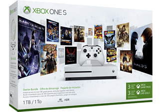 Xbox One S 1TB + Game Pass - Console de jeu - Blanc