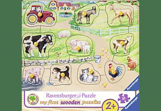 RAVENSBURGER Morgens auf dem Bauernhof Puzzle Mehrfarbig