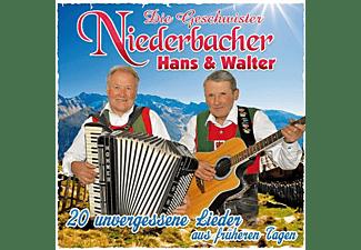 Geschwister Niederbacher Hans & Walter - 20 unvergessene Lieder aus früheren Tagen  - (CD)