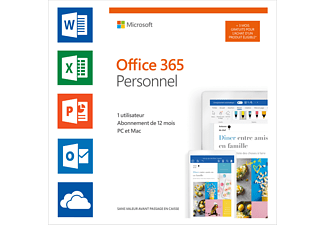 Office 365 Personal (FR) - 1 user - 12 + 3 maanden gratis