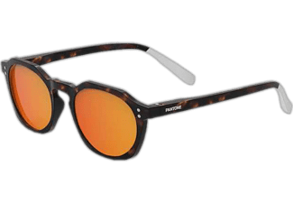 PANTONE N° Five Ecaille Fonce - Sonnenbrille (Schwarz/Orange)