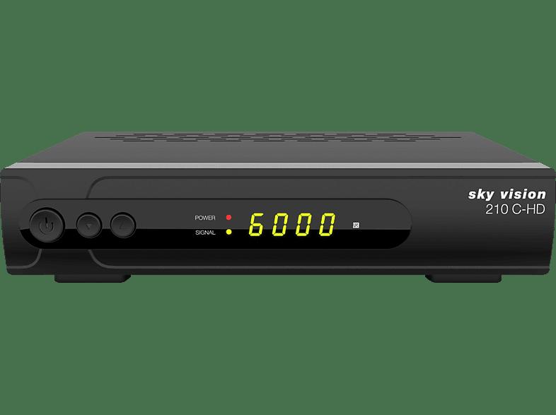 SKY VISION 210 C-HD Digitaler HD Kabelreceiver (HDTV, optional, DVB-C, DVB-C2, Schwarz)