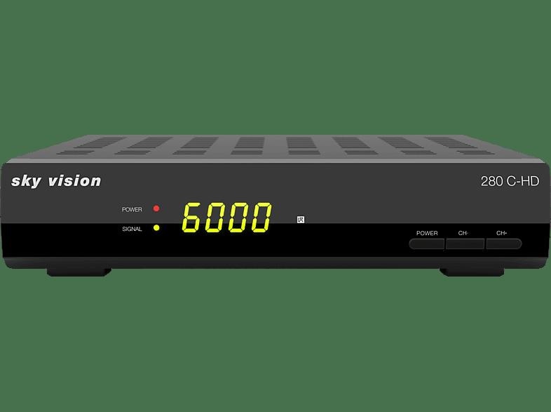 SKY VISION 280 C-HD Kabel-Receiver (HDTV, optional, DVB-C, DVB-C2, Schwarz)