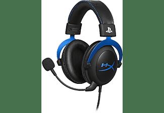 Auriculares gaming - HYPERX CLOUD BLUE PS4, Micrófono extraíble, Para PS4, Negro y azul