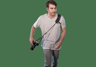 SUN SNIPER EASY-GLYDER Kameragurt mit Sicherheits-Seil, Kameragurt, Schwarz, passend für Systemkameras