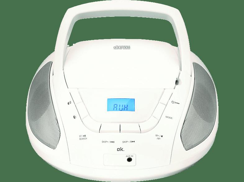 OK. ORC 133 W Tragbares Stereoradio (Weiß)