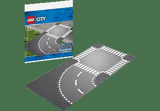 LEGO 60237 Kurve und Kreuzung Bausatz, Grau