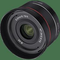 SAMYANG AF 24mm F2.8 FE 24 mm - 24 cm 2.8 (Objektiv für Sony E-Mount, Schwarz)
