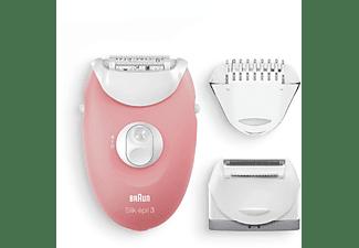 BRAUN Silk-épil 3 SE 3-440  Epilierer, Rosa/Weiß