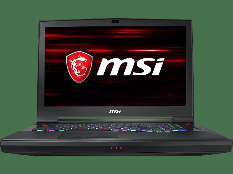 MSI GT75 8SG-035, Gaming Notebook mit 17.3 Zoll Display, Core™ i9 Prozessor, 32 GB RAM, 512 GB SSD, 1 TB HDD, GeForce® RTX™ 2080, Schwarz