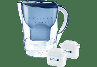 BRITA 100933 MARELLA XL BLAU + 2MAXTRA+ Tischwasserfilter, Blau