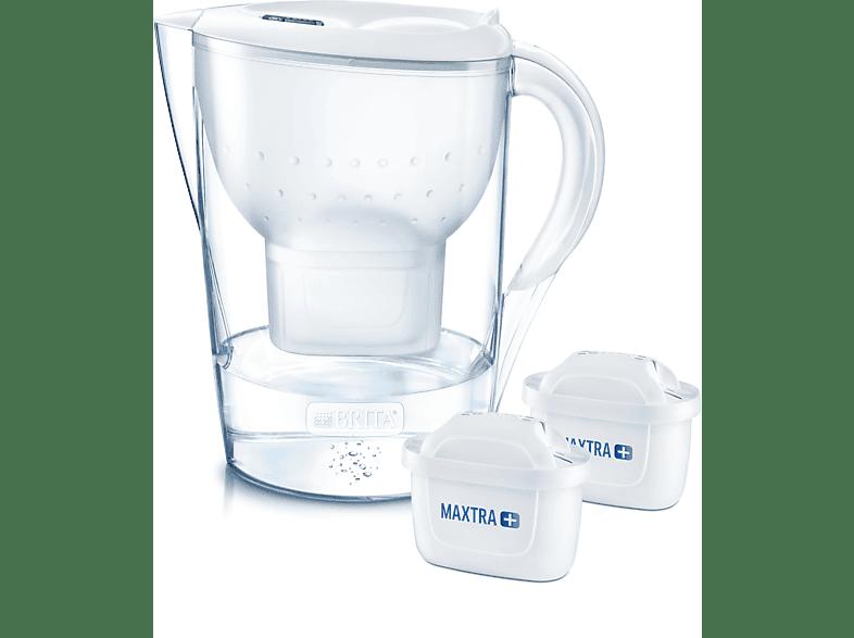 BRITA 100926 MARELLA XL WEISS + 2 MAXTRA Tischwasserfilter, Weiß
