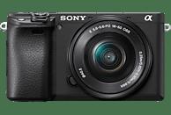 SONY Alpha 6400 Kit (ILCE-6400L) Systemkamera 24.2 Megapixel mit Objektiv 16 - 50 mm , 7.5 cm Display   Touchscreen, WLAN