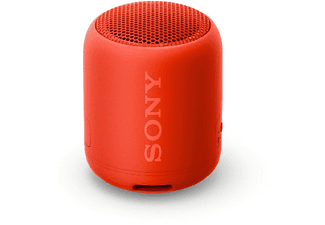 Altavoz inalámbrico - Sony SRS-XB12R, EXTRA BASS, Bluetooth, Autonomía 16 horas, IP67, Rojo