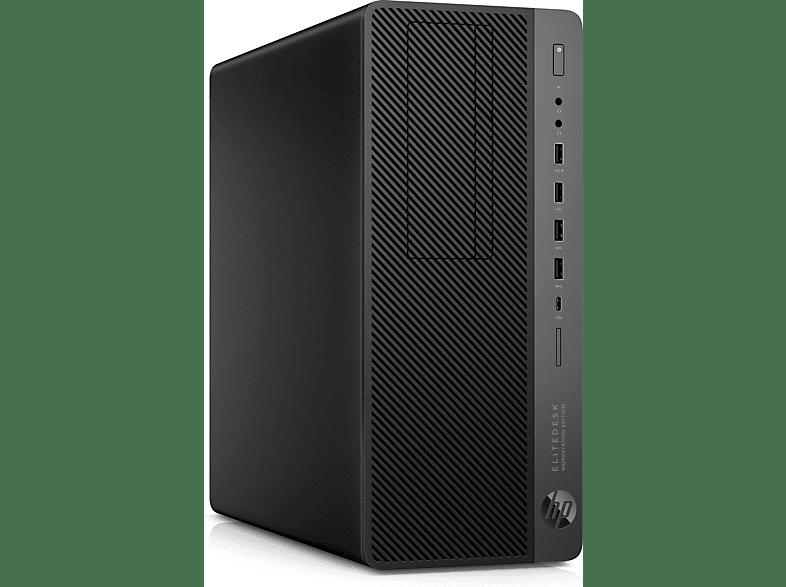 HP EliteDesk 800 G4, Desktop PC, Core™ i7 Prozessor, 8 GB RAM, 256 GB SSD, Quadro® P400, Schwarz