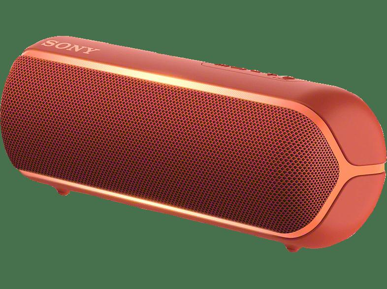 SONY SRS-XB22 Wireless Party Chain Bluetooth Lautsprecher, Rot, Wasserfest