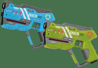 JAMARA Impulse Pistol Set 2 Spielzeugwaffe, Grün / Blau
