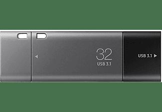 SAMSUNG Flash Drive DUO Plus USB-Stick (Silber/Schwarz, 32 GB)
