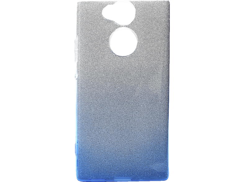 AGM 27776 Slope Backcover Sony Xperia XA2 Polycarbonat, Thermoplastisches Polyurethan Blau/Silber