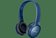 PANASONIC RP-HF410B, On-ear Kopfhörer Bluetooth Blau
