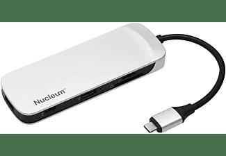 KINGSTON Nucleum USB-C Hub, Schwarz/Weiß