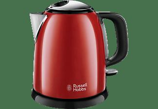 RUSSELL HOBBS 24992-70 Colours Plus+ Mini Wasserkocher, Rot/Schwarz