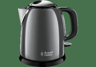 RUSSELL HOBBS 24993-70 Colours Plus+ Mini Wasserkocher, Dunkelgrau/Schwarz